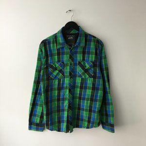 Vans Checkered Button Up Shirt Pocket Skate XL